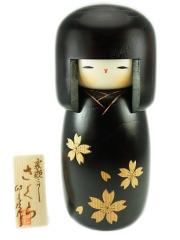 Kokeshi Black Sakura