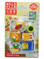 Japanese meals Iwako erasers