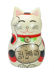 Kokeshi Maneki Neko Wood