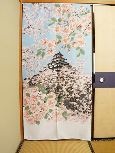 Noren Tsuruga Castle Sakura flowers