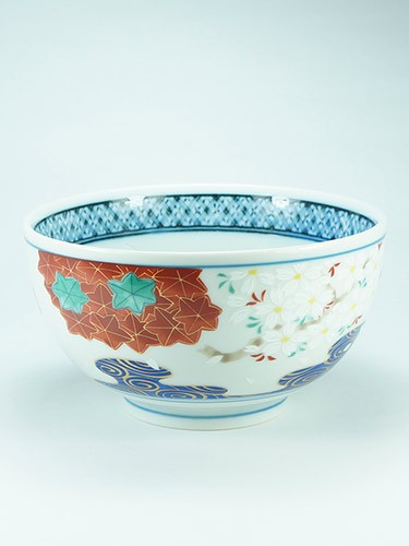 Flowers and leafs bowl Ryusui