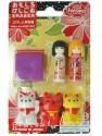 Maneki Neko & Kokeshi Erasers Iwako