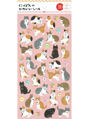 Japanese Cats Stickers