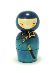 Kokeshi Blue Ninja