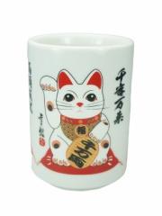 Tricolor Cup Maneki Neko