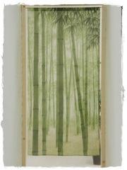 Noren foret bambou