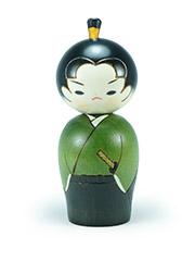 Kokeshi Green Samurai