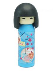 Gomme Iwako Kokeshi Bleue