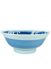 Blue kanji ramen bowl